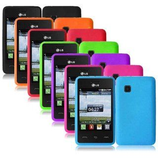 Importer520 Silicone Gel Skin Phone Protector Cover Case for For Tracfone LG 840G LG840G (7in1 Combo Colorful) Cell Phones & Accessories