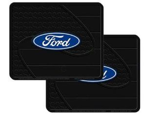 2 Utility Rubber Floor Mats   Ford Oval Blue Automotive