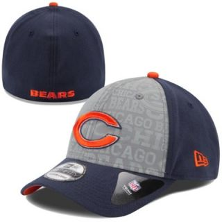 Mens New Era Navy Blue Chicago Bears 2014 NFL Draft 39THIRTY Flex Hat