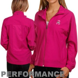 Cutter & Buck Denver Broncos Ladies Pink Breast Cancer Awareness Camano Full Zip Jacket