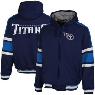 Tennessee Titans Tailgate Transition Full Zip Hoodie   Navy Blue