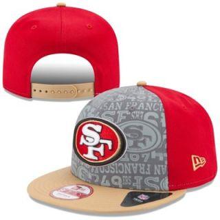 Mens New Era Scarlet San Francisco 49ers 2014 NFL Draft 9FIFTY Snapback Hat