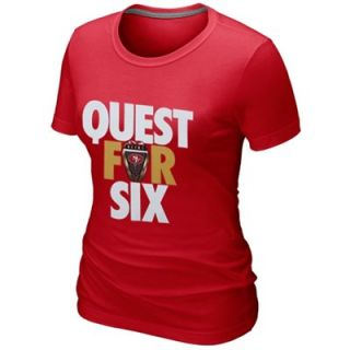 Nike San Francisco 49ers Ladies Quest for Six Slim Fit T Shirt   Scarlet