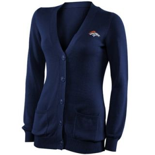 Pro Line Denver Broncos Ladies Cotton Boyfriend Cardigan   Blue