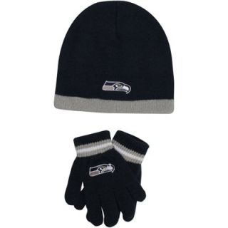 Seattle Seahawks Toddler Knit Hat and Glove Set   College Navy