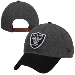New Era Oakland Raiders Woolen Crown Adjustable 9FORTY Hat   Gray/Black