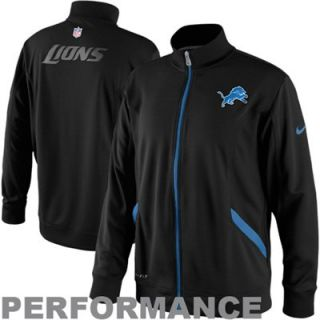 Nike Detroit Lions Empower Full Zip Knit Performance Jacket   Black