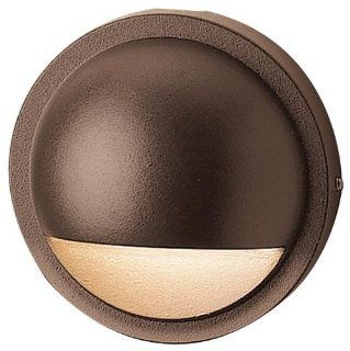 Kichler Lighting 15064AZT Half Moon 12 Volt Deck and Patio Light, Textured Architectural Bronze   Low Voltage Led Round Outdoor Lighting