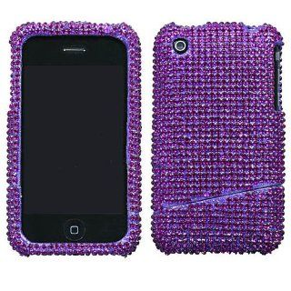 Hard Plastic Snap on Cover Fits Apple iPhone 3G 3GS Purple Diamond Slash AT&T (does NOT fit Apple iPhone or iPhone 4/4S or iPhone 5/5S/5C) Cell Phones & Accessories