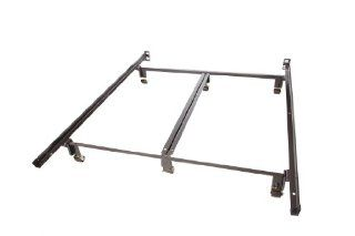 Milliard Super Heavy Duty Metal Queen Bed Frame with Rug Rollers and Double Rail Center Support Home & Kitchen