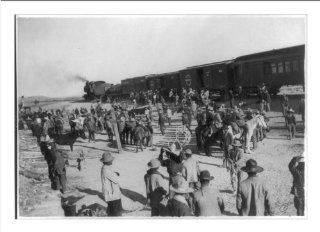 Historic Print (L) Gen. Salagar's troops [by train during the Mexican Revolution]