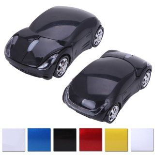 HDE Cool Sports Car Wireless Optical Mouse w/ Silver Chrome Rims (California Black) Computers & Accessories