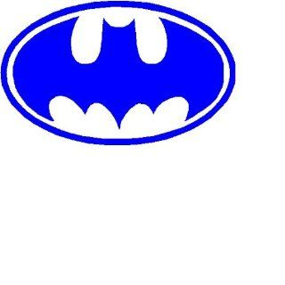 "Batman Logo 3"" BLUE Decal Sticker"
