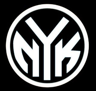 "NEW YORK KNICKS ""NYK"" LOGO   5.5"" WHITE Decal   Vinyl Decal Window Sticker   New York Knicks #17   Notebook, Laptop, Ipad, Window, Wall, Car, Truck, Motorcycle   NOTEBOOK, LAPTOP, WINDOWS, WALLS, CARS, TRUCKS, MOTORCYCLES, ETC. Automotive"