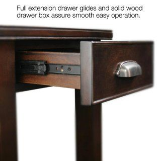 Leick Laurent Drawer Chair Side End Table   Small End Table With Storage