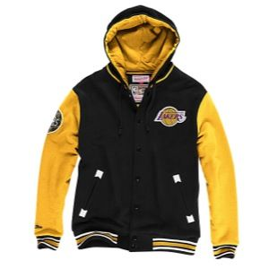 Mitchell & Ness NBA Second Quarter Fleece Jacket   Mens   Basketball   Clothing   Los Angeles Lakers   Black/Gold
