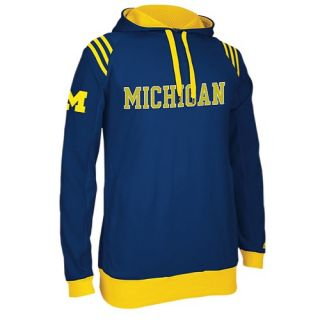 adidas College 3 Stripe Pullover Hoodie   Mens   Basketball   Clothing   Michigan Wolverines   Navy