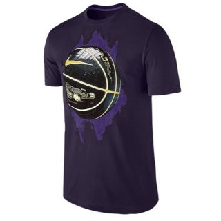 Nike Circuit Glowball T Shirt   Mens   Basketball   Clothing   White/Wolf Grey
