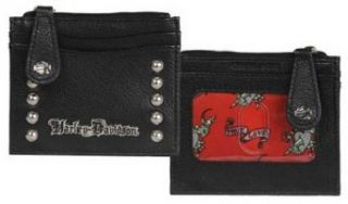 Harley Davidson Womens Black Leather Rider Derby Wallet RD6288L BLACK