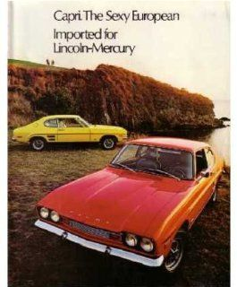 1972 Mercury Capri Sales Brochure Literature Book Piece Advertisement Options Automotive