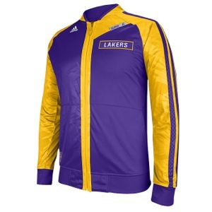 adidas NBA On Court Jacket   Mens   Basketball   Clothing   Los Angeles Lakers   Purple/Gold
