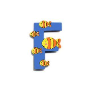 Wooden Fish Letter F Magnet by The Toy Workshop Kitchen & Dining
