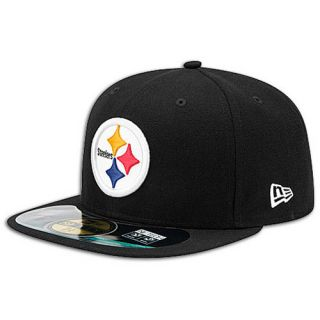 New Era NFL 59Fifty Sideline Cap   Mens   Football   Accessories   Pittsburgh Steelers   Black