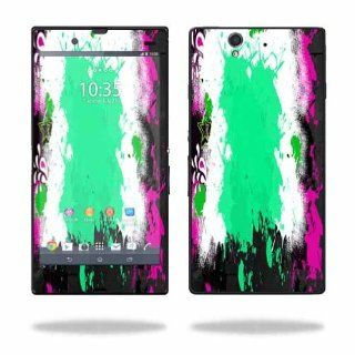 MightySkins Protective Vinyl Skin Decal Cover for Sony Xperia Z 4G LTE T Mobile Sticker Skins Paint Splatter Cell Phones & Accessories