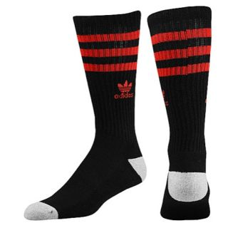 adidas Originals Roller Crew Socks   Mens   Casual   Accessories   White/Light Scarlet/Heather Aluminium