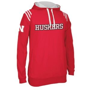 adidas College 3 Stripe Pullover Hoodie   Mens   Basketball   Clothing   Nebraska Cornhuskers   Red