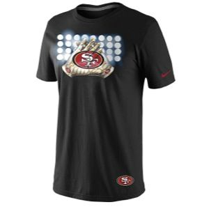Nike NFL Glove Lockup T Shirt   Mens   Football   Clothing   San Francisco 49ers   Black