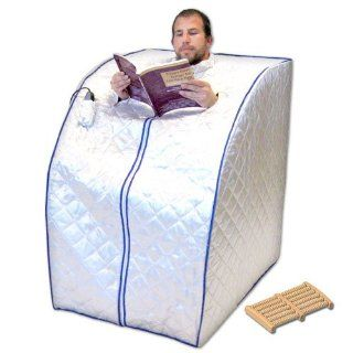 Portable Far Infrared Sauna with Ceramic Heater, Heating Panels and Foot Massager   X Large Health & Personal Care