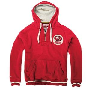 Mitchell & Ness NFL Field Goal Hoodie   Mens   Football   Clothing   San Francisco 49ers   Red