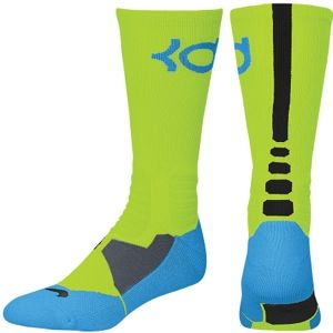 Nike KD Hyper Elite Crew Socks   Mens   Basketball   Accessories   Volt/Vivid Blue/Black