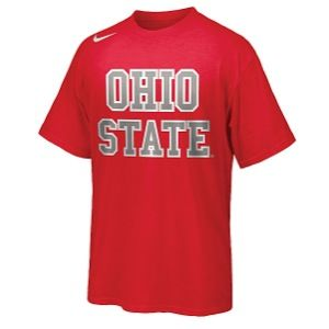 Nike College Hyper Elite T Shirt   Mens   Basketball   Clothing   Ohio State Buckeyes   True Red