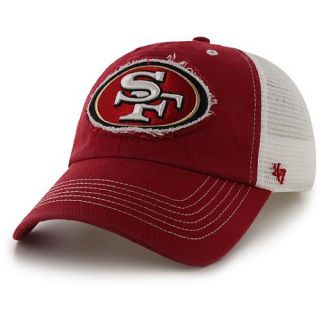47 BRAND Mens San Francisco 49ers Blue Mountain Meshback Cap, Red