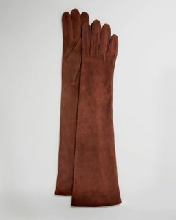 Elbow Length Suede Gloves   Portolano   Cork (7 /S)