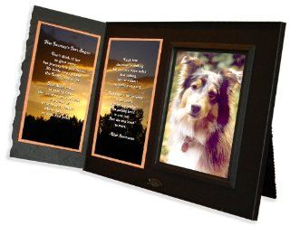 """Her Journey's Just Begun"" Poem Pet Loss Sympathy Picture Frame Gift and Memorial Keepsake, Black with Foil Accent  Picture Frame Sets"