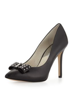 Devin Spiked Bow Pump   MICHAEL Michael Kors   Black (40.0B/10.0B)