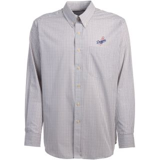 Antigua Los Angeles Dodgers Mens Monarch Long Sleeve Dress Shirt   Size