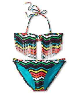 Roxy Kids Wave Wonderer Fringe Bandeau Set Girls Swimwear (Multi)