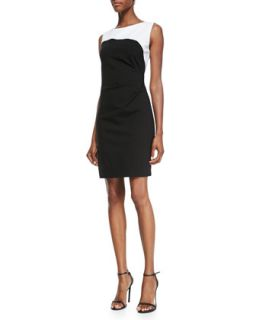Womens Dilana Sleeveless Contrast Sheath Dress   Elie Tahari   Black (8)