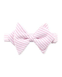 Striped Baby Bow Tie, Pink   Pink