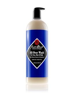 Mens All Over Wash for Face, Hair & Body, 33oz   Jack Black   Black (33oz ,3oz