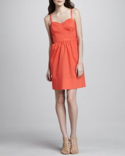 Womens Sweetheart Neck Spaghetti Strap Dress   Shoshanna   Mandarin (8)