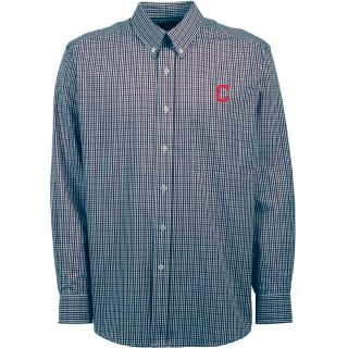 Antigua Cleveland Indians Mens Monarch Long Sleeve Dress Shirt   Size