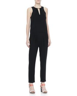 Womens Lana Sleeveless Drop Waist Jumpsuit   Rag & Bone   Black (12)