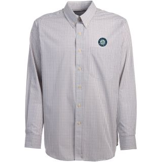Antigua Seattle Mariners Mens Monarch Long Sleeve Dress Shirt   Size Large,