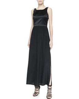 Womens Sleeveless Combo Maxi Dress   Amanda Uprichard   Black (PETITE)