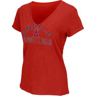 G III Womens Los Angeles Angels of Anaheim Football Logo Slub V Neck Short